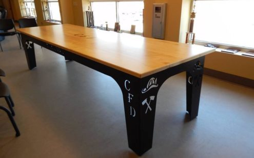cartersville fire department custom table base steel materials