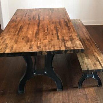 custom metal table base steel materials north georgia